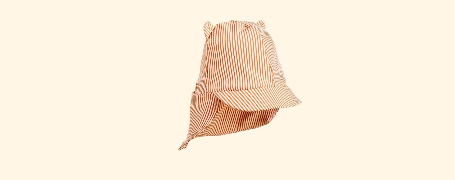Mustard Stripe Liewood Senia Sun Hat Seersucker