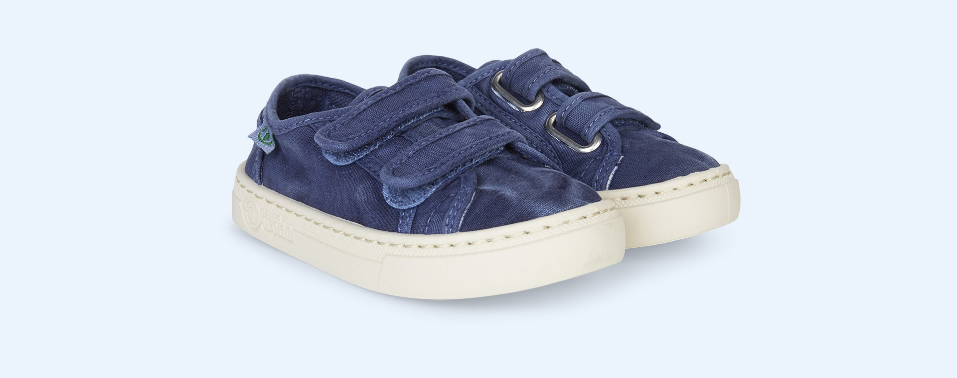 Marine Natural World Velcro Canvas Trainer