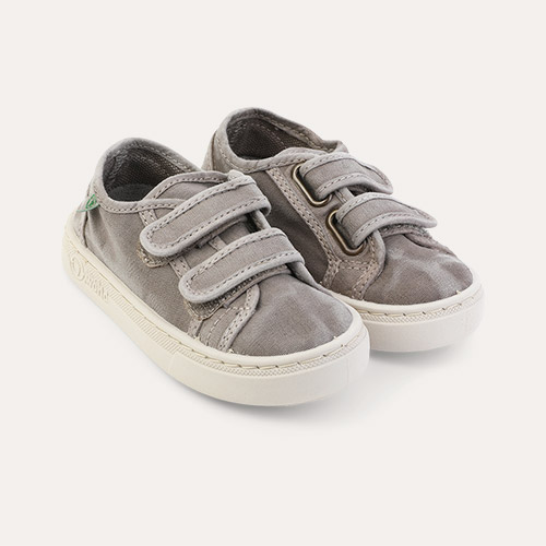 Light Grey Natural World Velcro Canvas Trainer