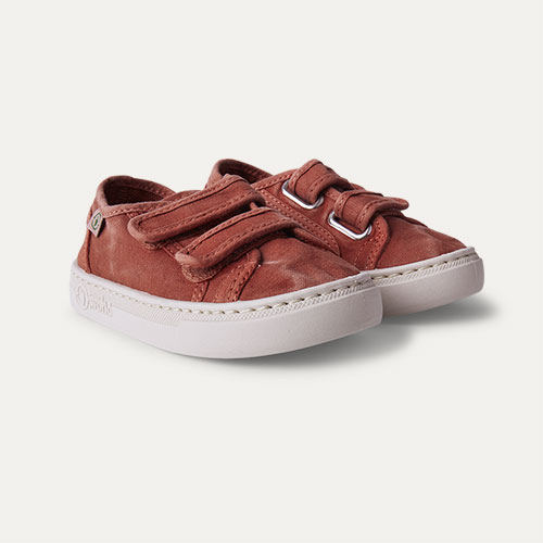 Wine Natural World Velcro Canvas Trainer