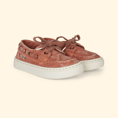 Orange Natural World Nautical Canvas Trainer