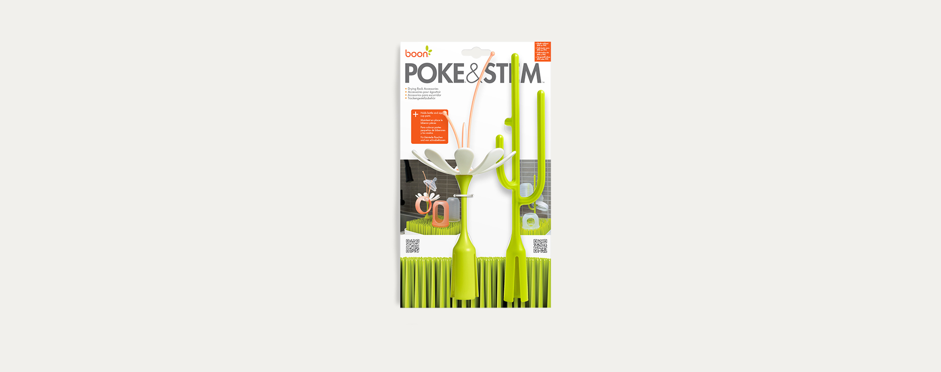 Green & White Boon Stem and Poke