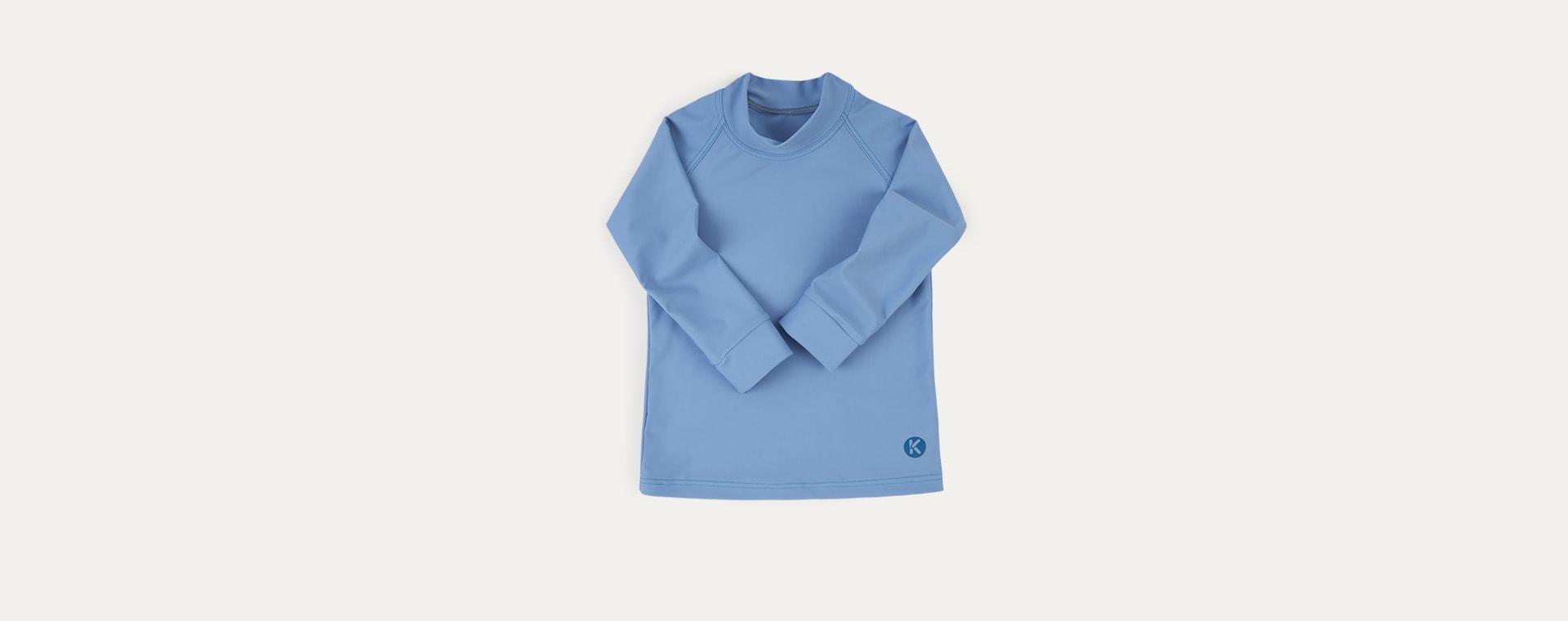 Light Blue KIDLY Label Recycled Rash Vest