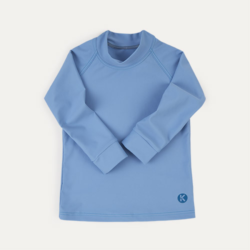 Light Blue KIDLY Label Recycled Rash Vest