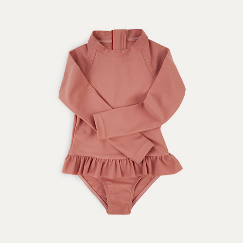 Coral KIDLY Label Eco Long Sleeve Swimsuit