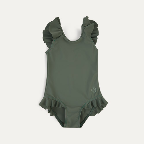 Olive KIDLY Label Eco Frill Swimsuit