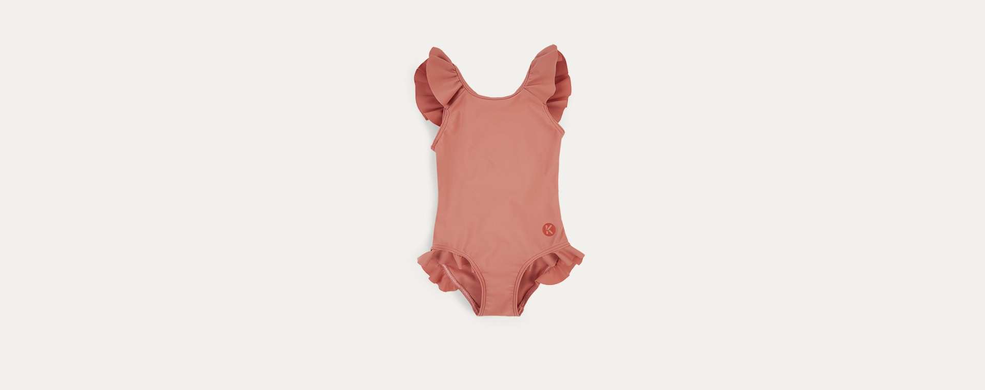 Coral KIDLY Label Eco Frill Swimsuit