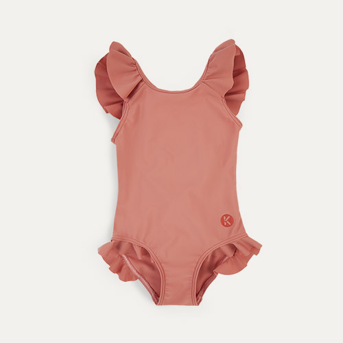 Coral KIDLY Label Recycled Frill Swimsuit