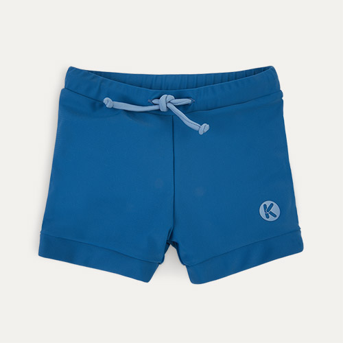 Azure KIDLY Label Recycled Swim Trunks