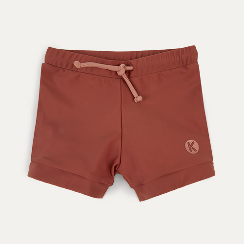 Terracotta KIDLY Label Eco Swim Trunks