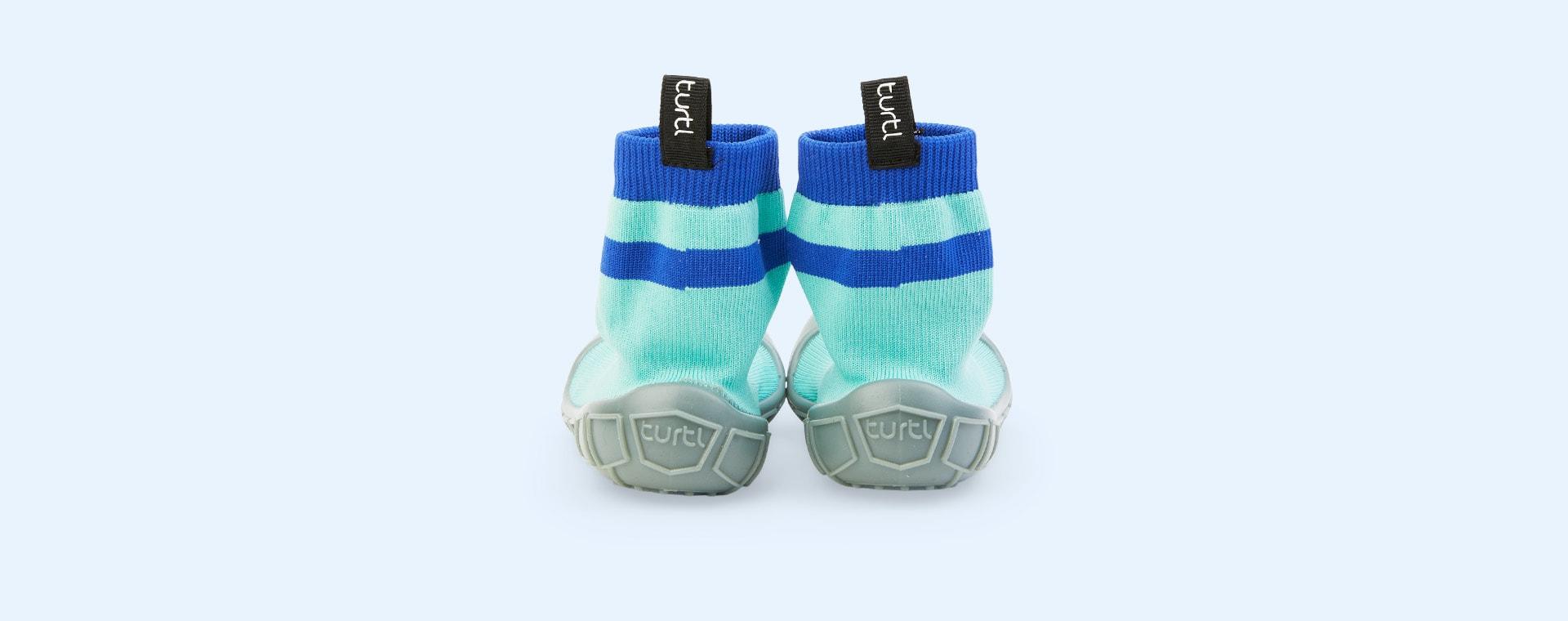 Aqua turtl Tots Slipper Socks