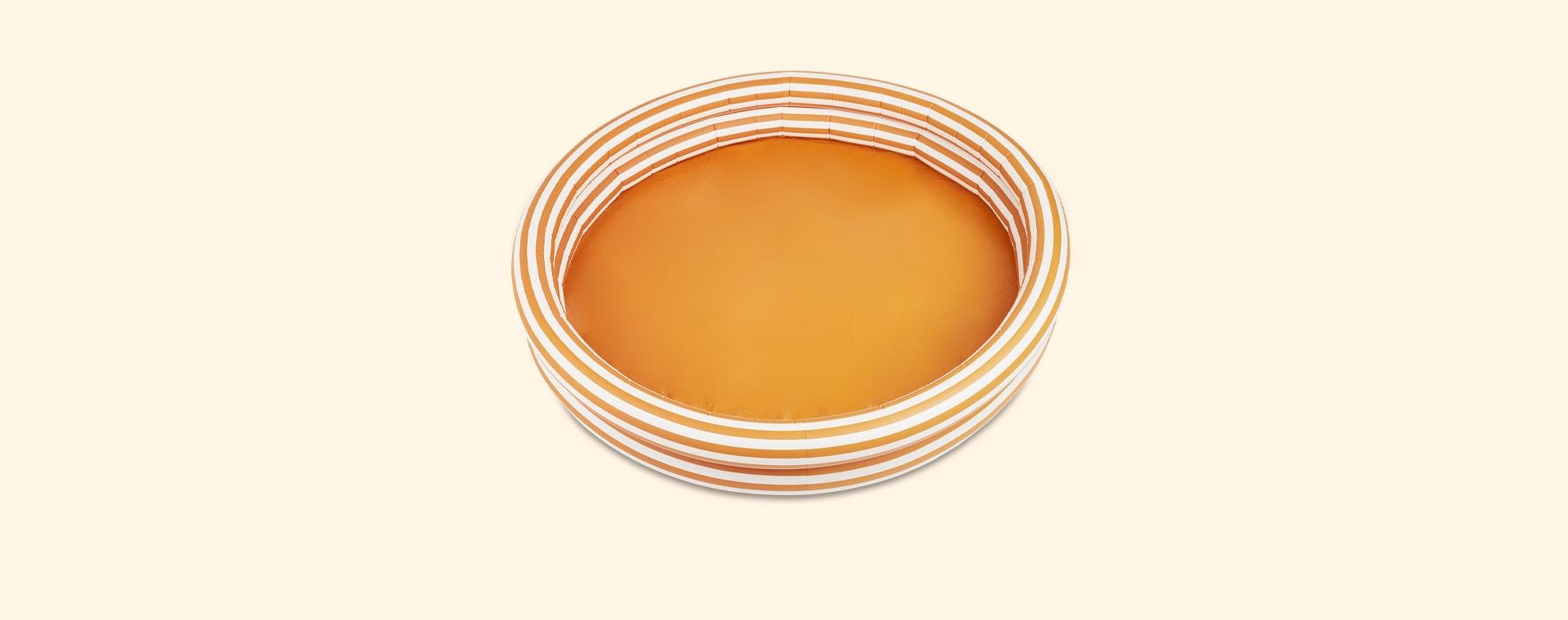 Stripe Mustard/Creme De La Creme Liewood Savannah Pool