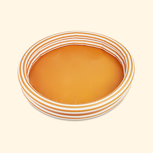 Stripe Mustard/Creme De La Creme