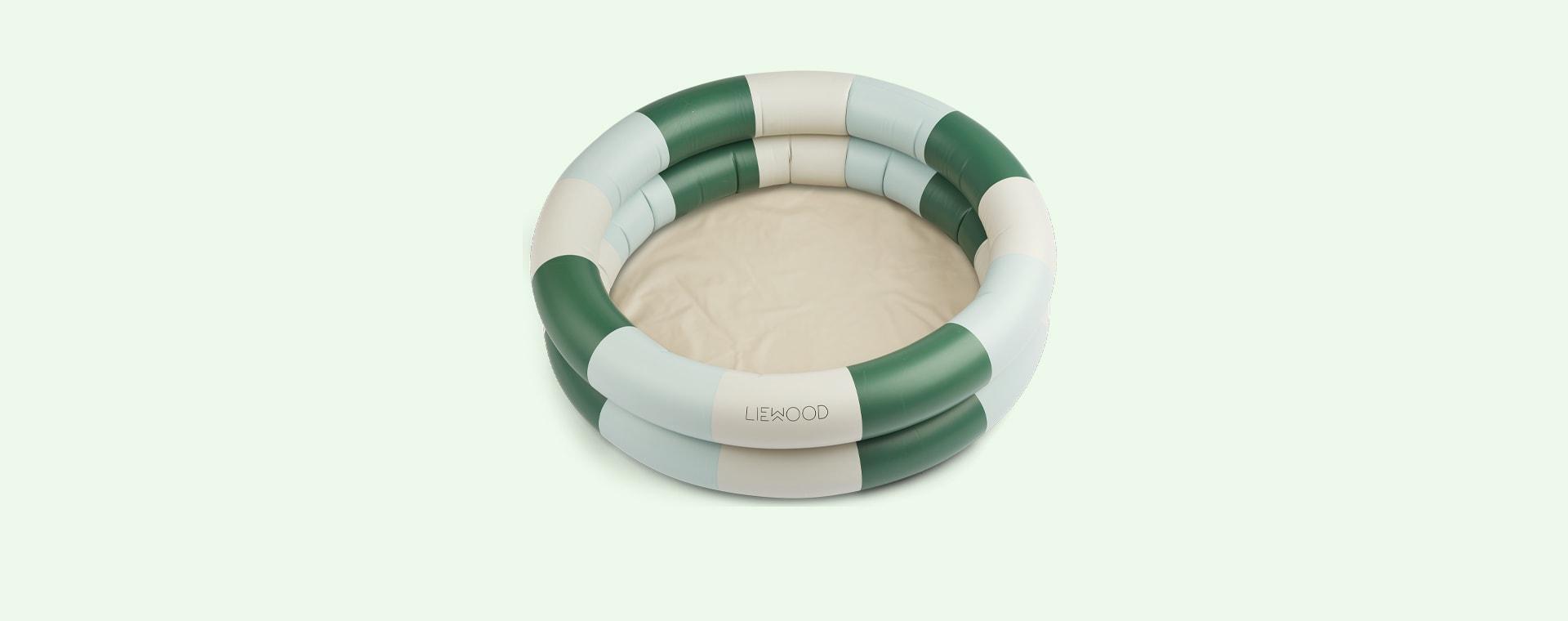 Stripe Garden Green/Sandy/Dove Blue Liewood Leonore Pool
