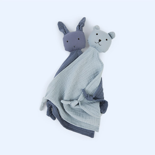 Blue Mix Liewood Yoko Cuddle Teddy 2 pack