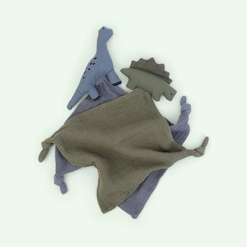 Dino blue mix Liewood Yoko Cuddle Teddy 2 pack