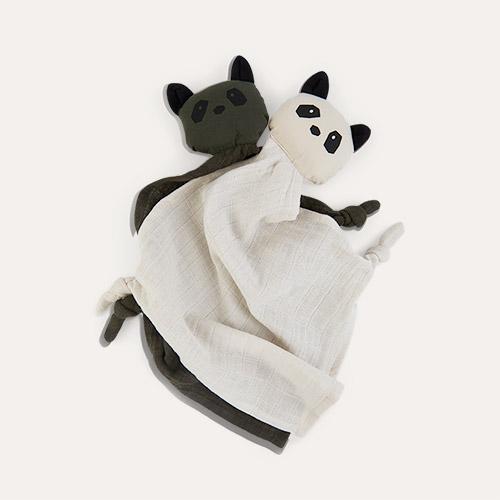 Panda Hunter Green/Sandy Mix Liewood Yoko Cuddle Teddy 2 pack