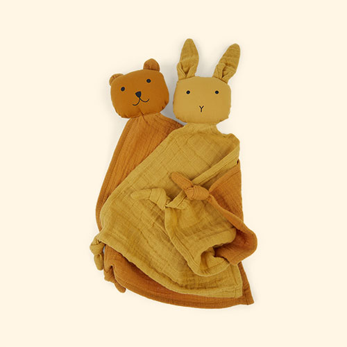 Yellow Mix Liewood Yoko Cuddle Teddy 2 pack