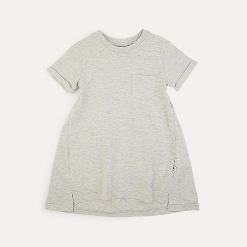 Oatmeal KIDLY Label Perfect Tee Dress