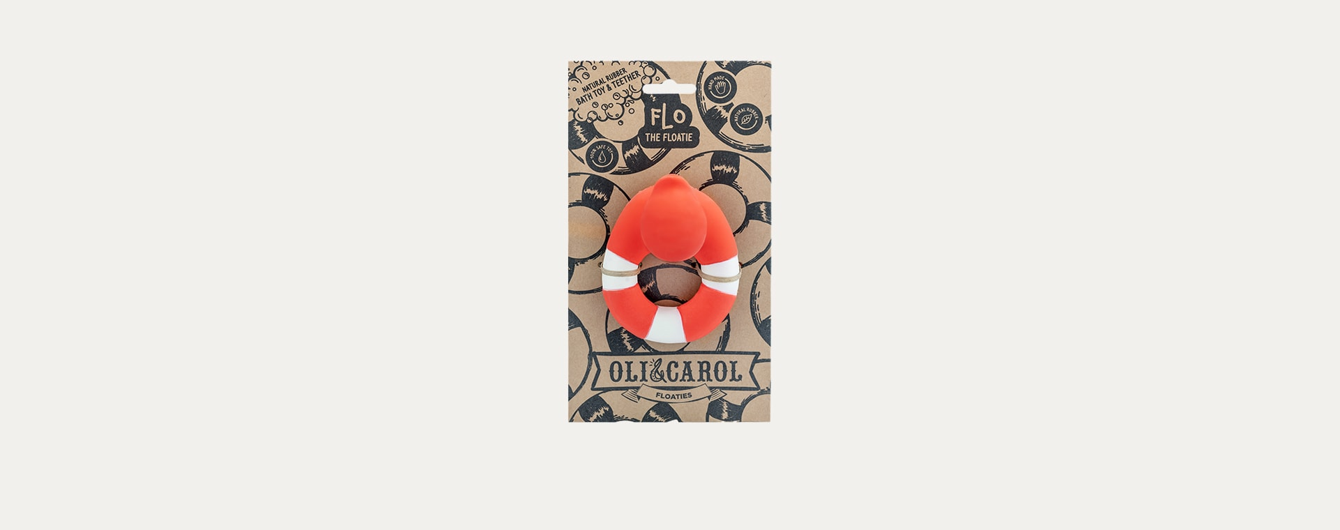 Red Oli & Carol Flo the Floatie Teether & Bath Toy