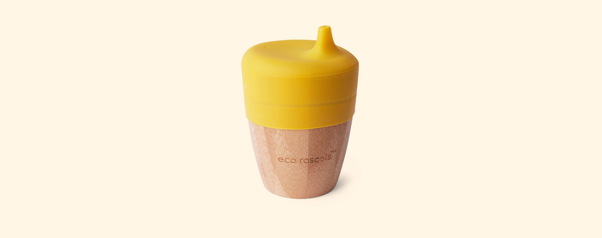 Yellow eco rascals Small Cup & Sippy Topper
