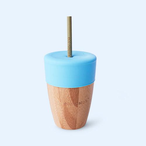 Blue eco rascals Big Cup, Topper & Straws