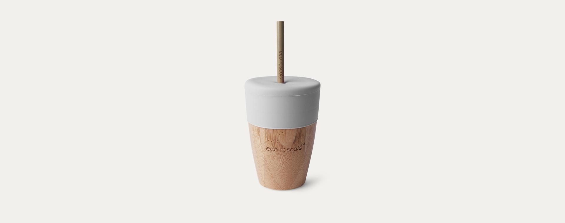 Grey eco rascals Big Cup, Topper & Straws