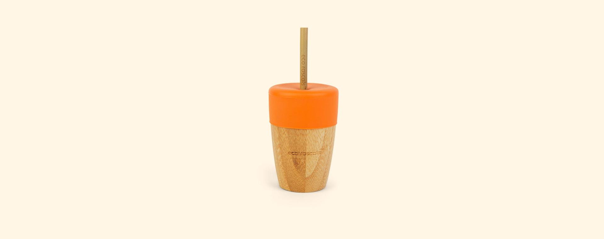 Orange eco rascals Big Cup, Topper & Straws