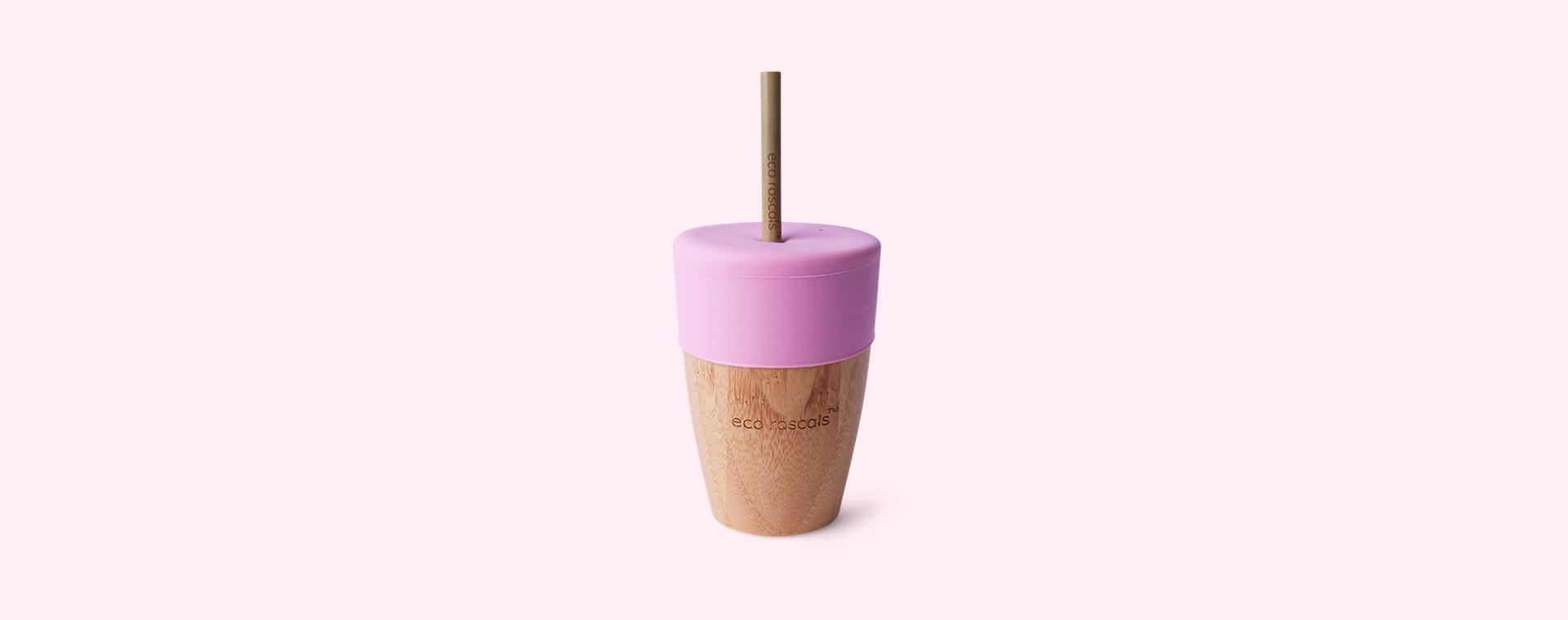 Pink eco rascals Big Cup, Topper & Straws
