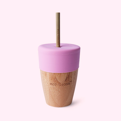 Pink eco rascals Big Cup, Topper & Straws