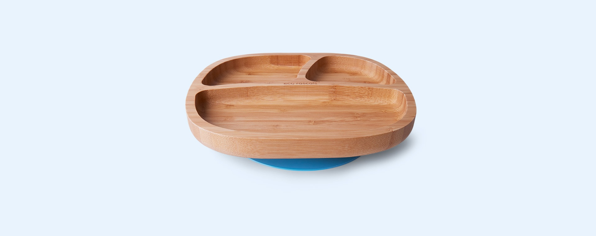 Blue eco rascals Bamboo Suction Toddler Plate