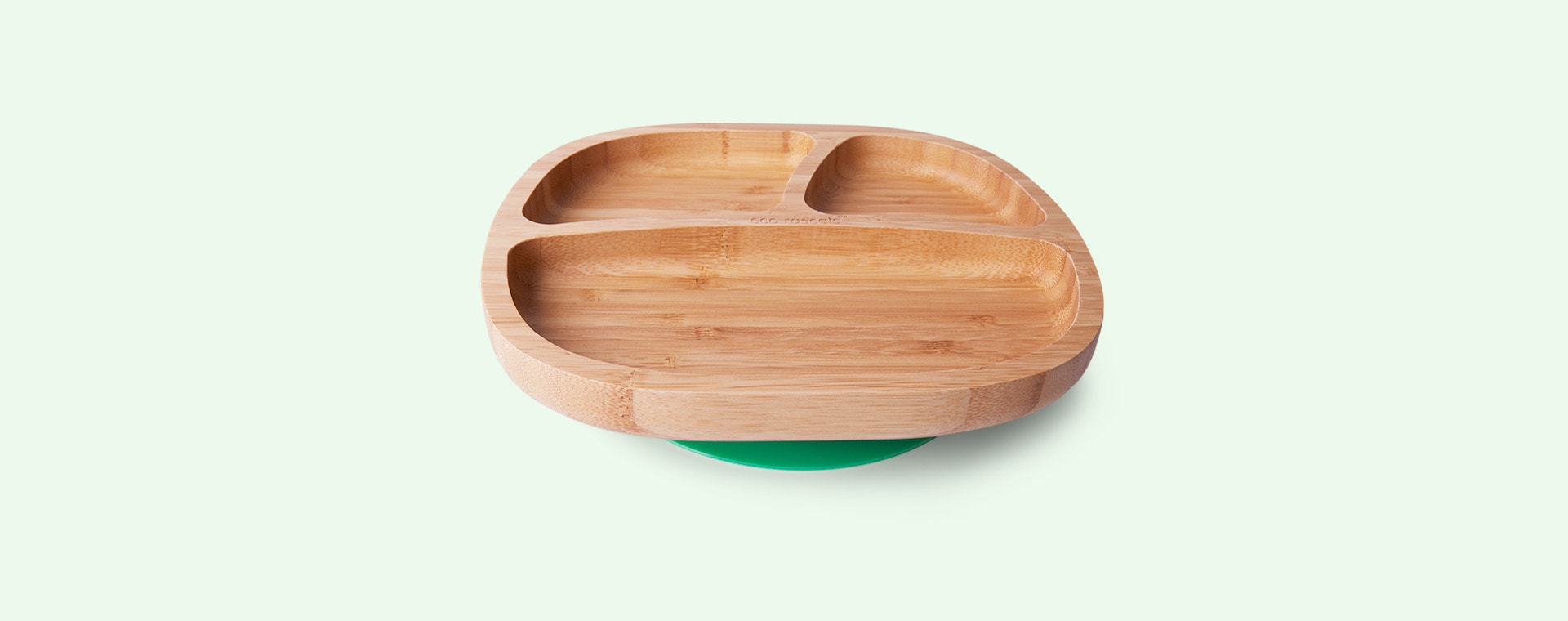 Green eco rascals Bamboo Suction Toddler Plate
