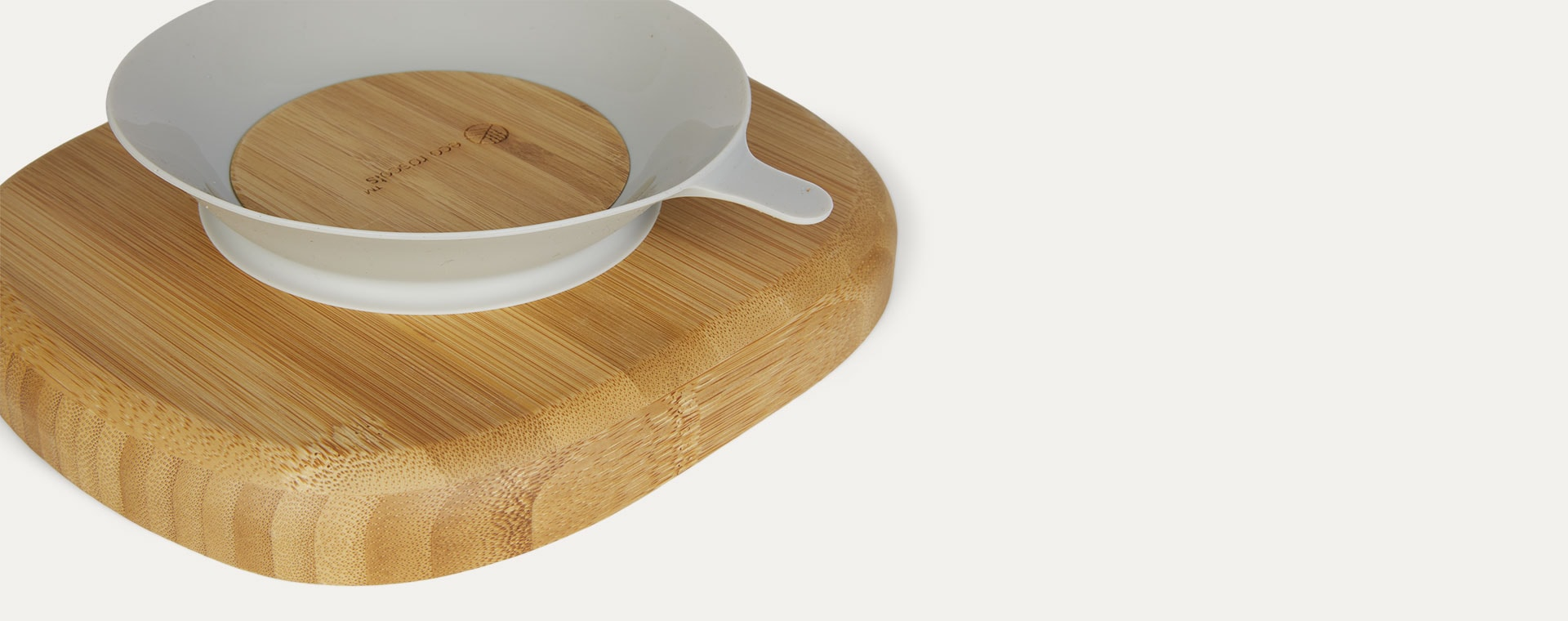 Grey eco rascals Bamboo Suction Toddler Plate