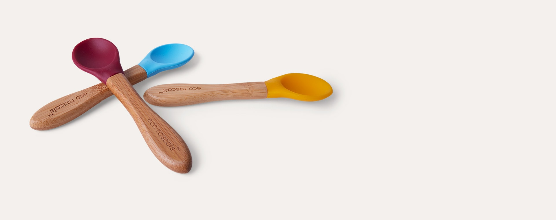 Blue/Red/Yellow eco rascals 3-Pack Bamboo Spoons