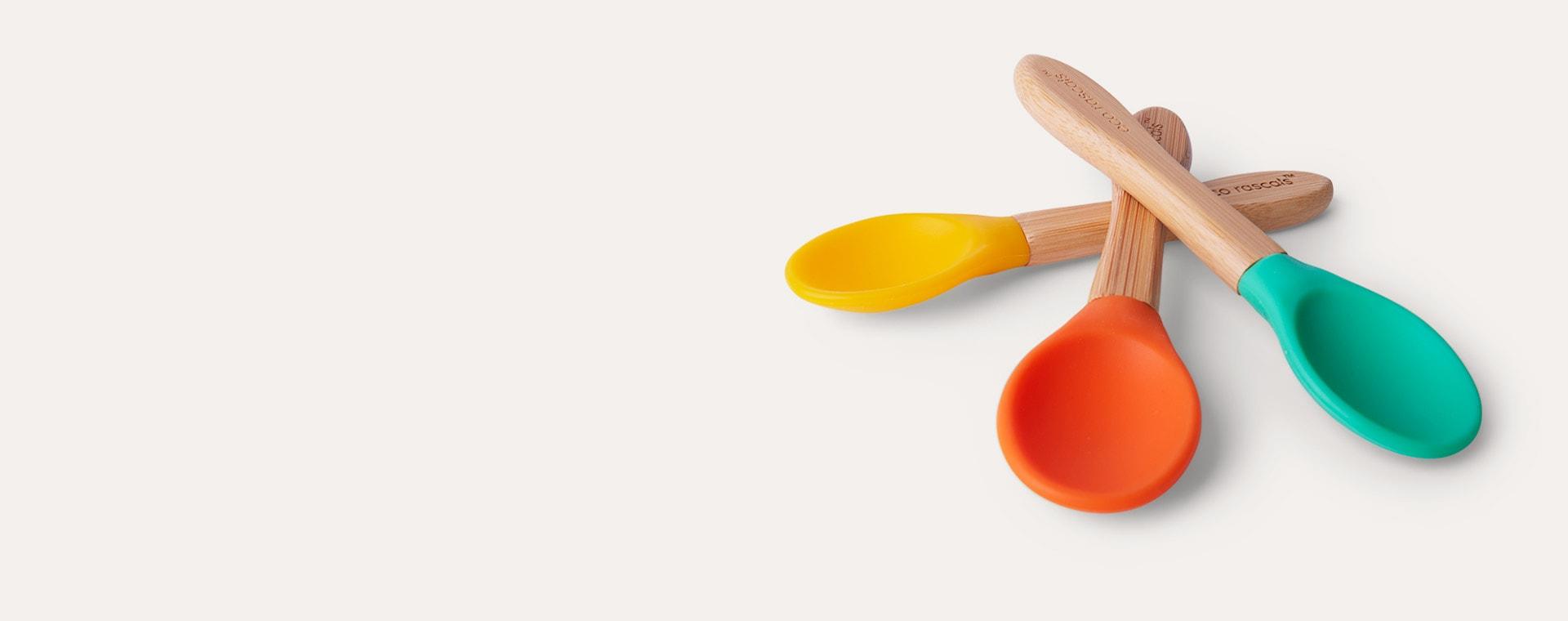 Green/ Orange/ Yellow eco rascals 3-Pack Bamboo Spoons
