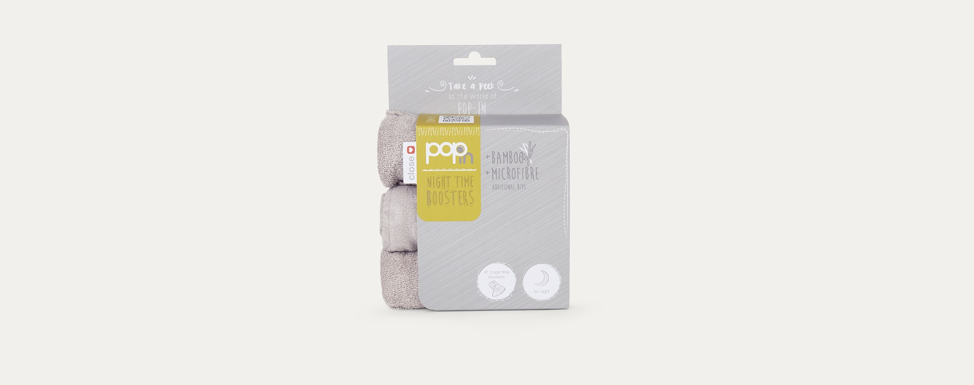Grey Close Pop In Night Time Nappy Booster