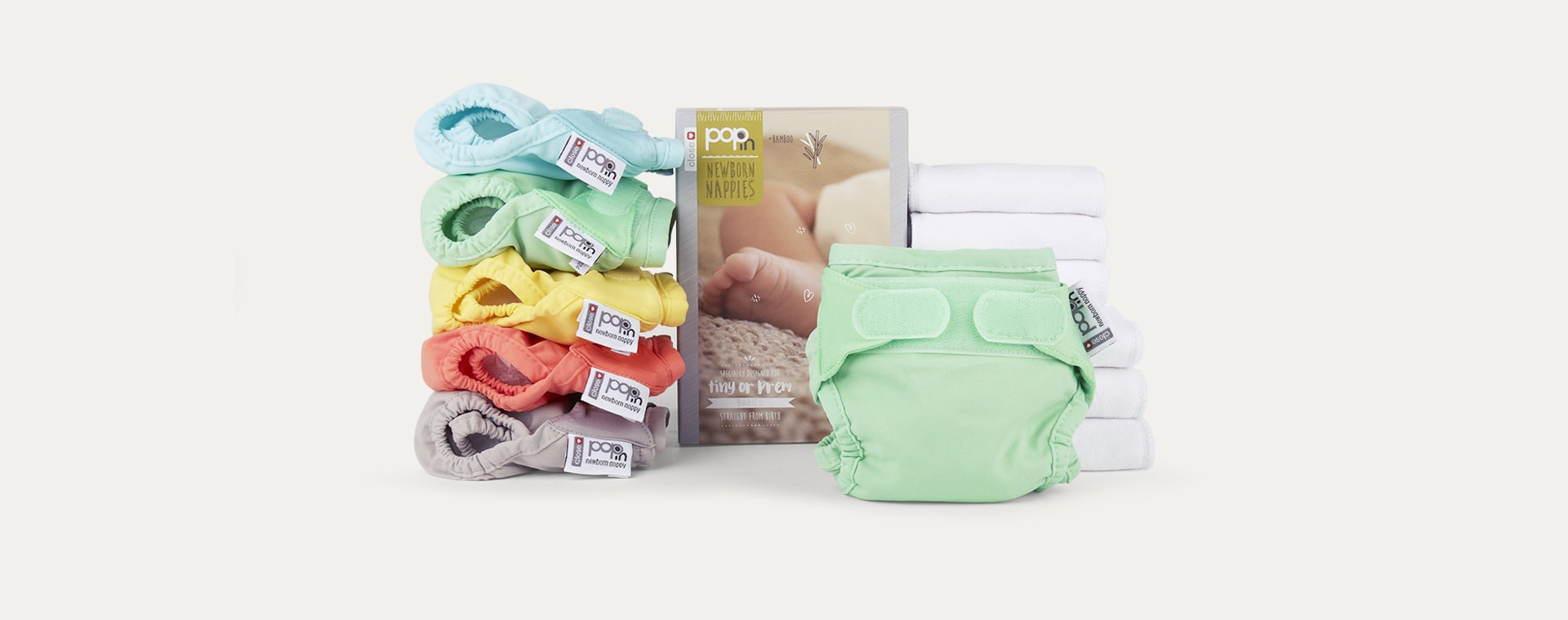 Pastels Close Pop-In Newborn Nappy Box