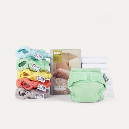 Pastels Close Pop-In Newborn Nappy Box