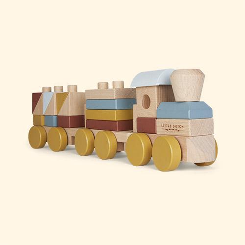 Multi Little Dutch Wooden Stacking Train
