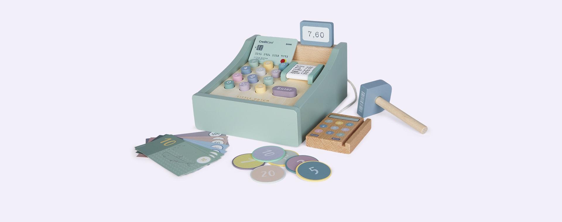 Mint Little Dutch Toy Cash Register With Scanner