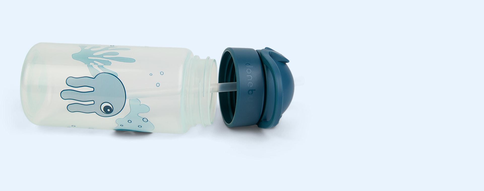 Sea Friends Blue Done By Deer Straw Bottle