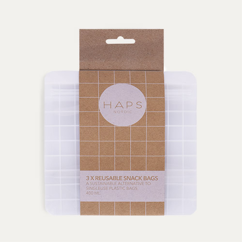 Clear Haps Nordic 3-Pack Snack Bag Small