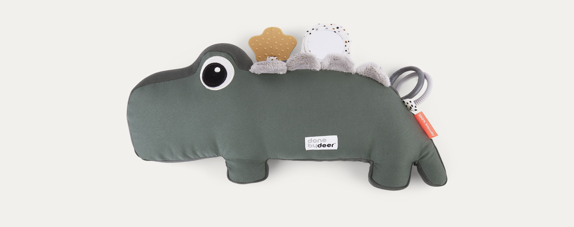 Green Done By Deer Tummy Time Activity Toy Croco