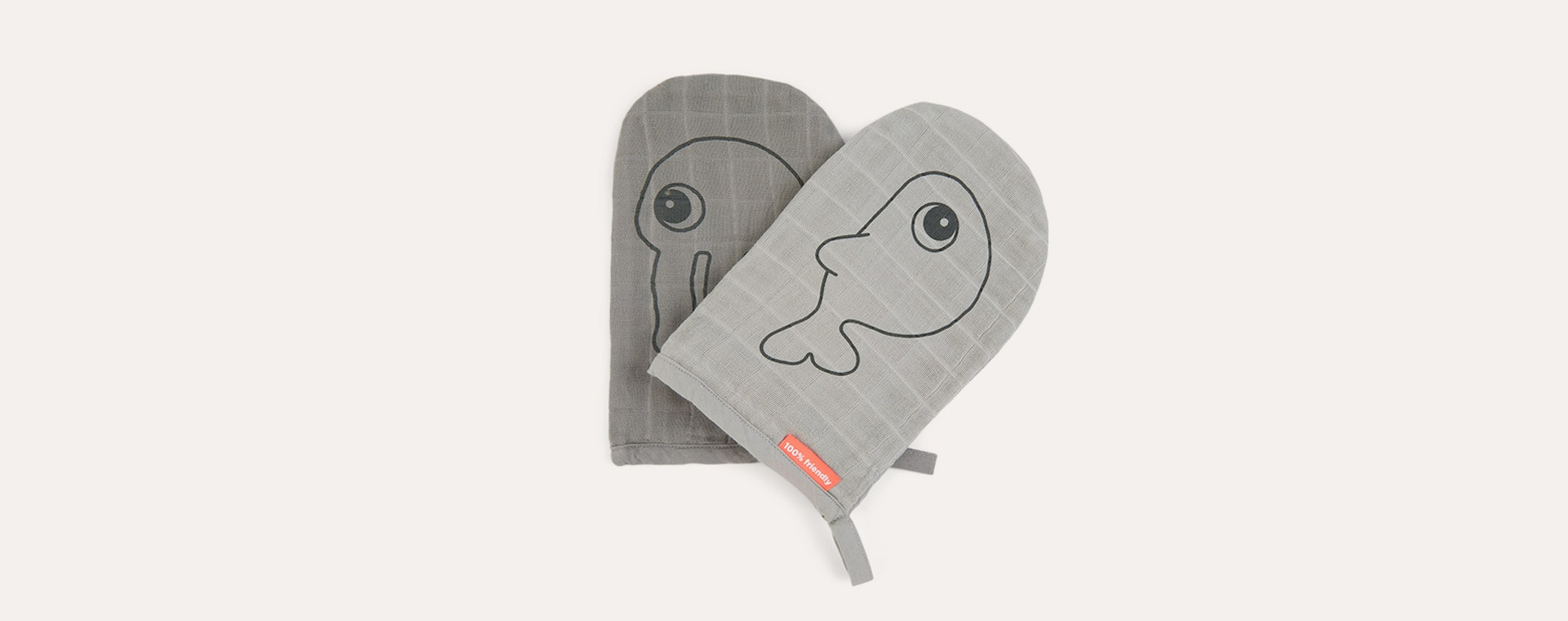 Grey Done By Deer Wash Cloth Sea Friends 2 Pack