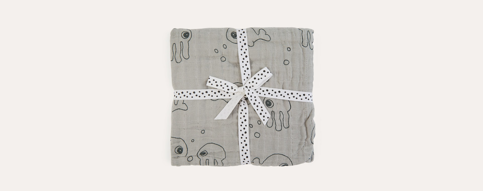 Grey Done By Deer Hooded Towel Sea Friends