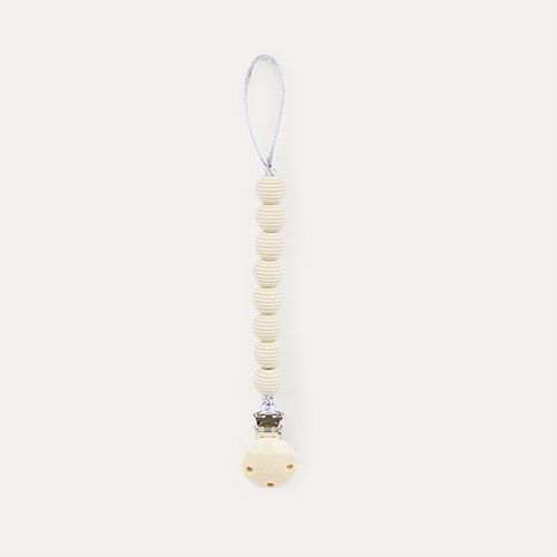 Cream Nibbling Spiral Dummy Clip