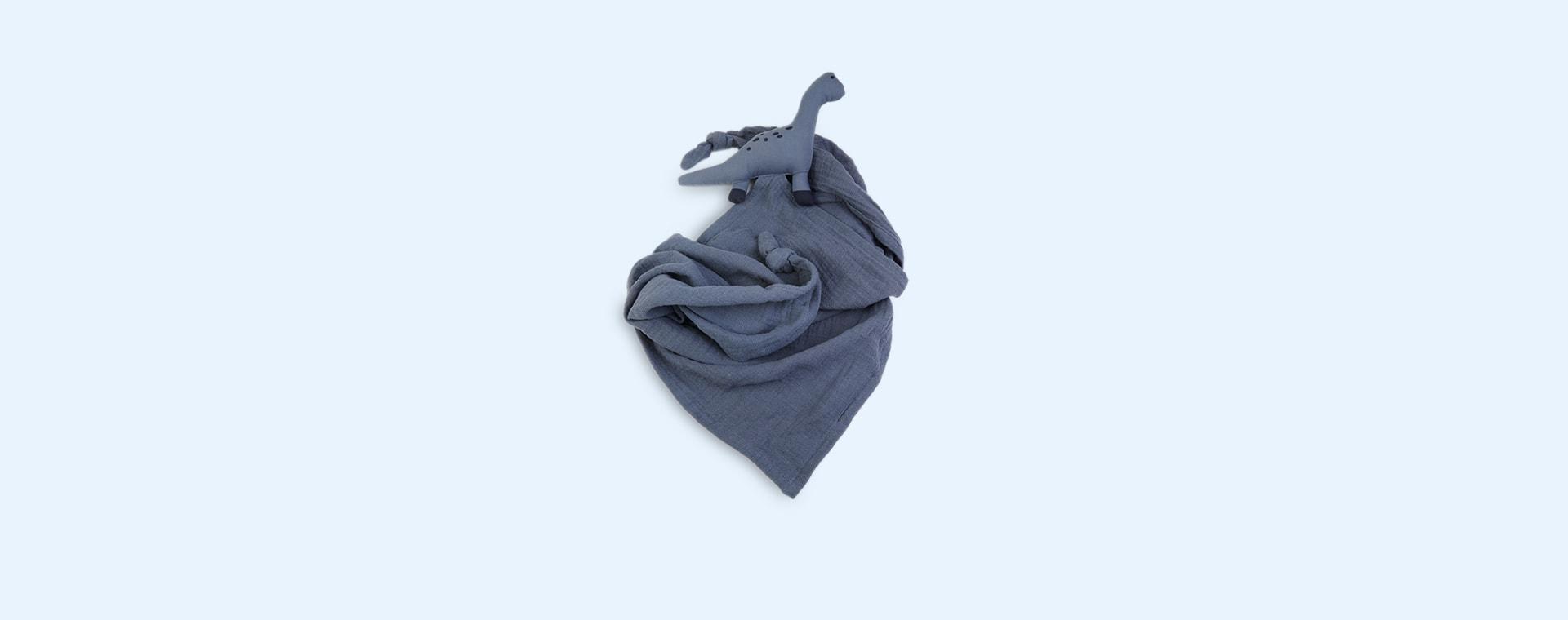 Dino Blue Wave Liewood Robbie Multi Muslin Cloth