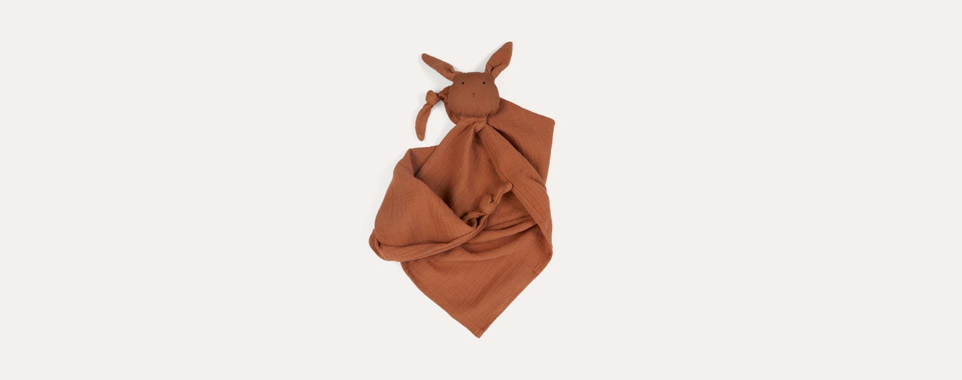 Rabbit Terracotta Liewood Robbie Multi Muslin Cloth