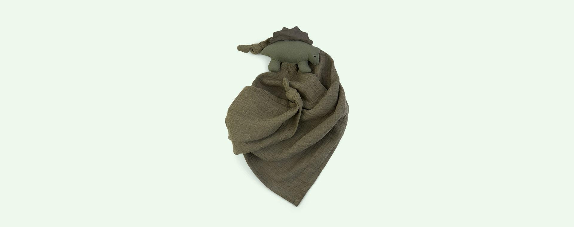Dino Faune Green Liewood Robbie Multi Muslin Cloth