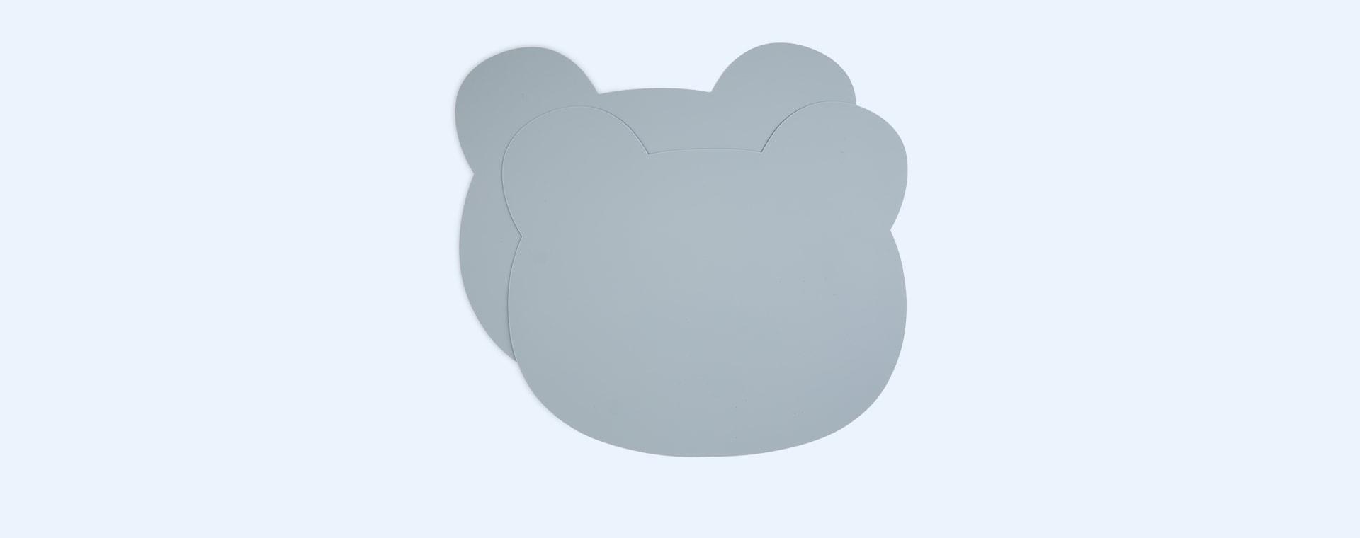 Bear Sea Blue Liewood 2-Pack Gada Placemats